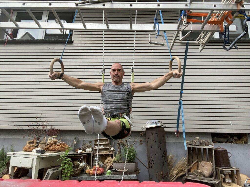 Ninja Warrior Kandidat Markus Malle beim Training