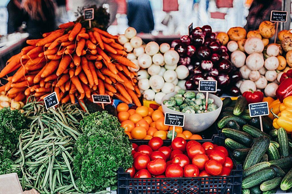 Gemüse essen ist lecker
