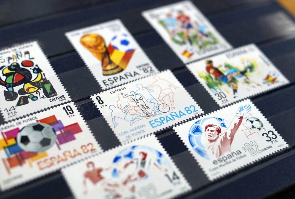 Briefmarken zur Fussball-WM 1982
