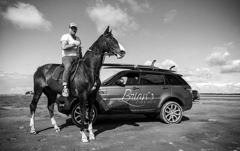 Brian Bojsen mit Pferd