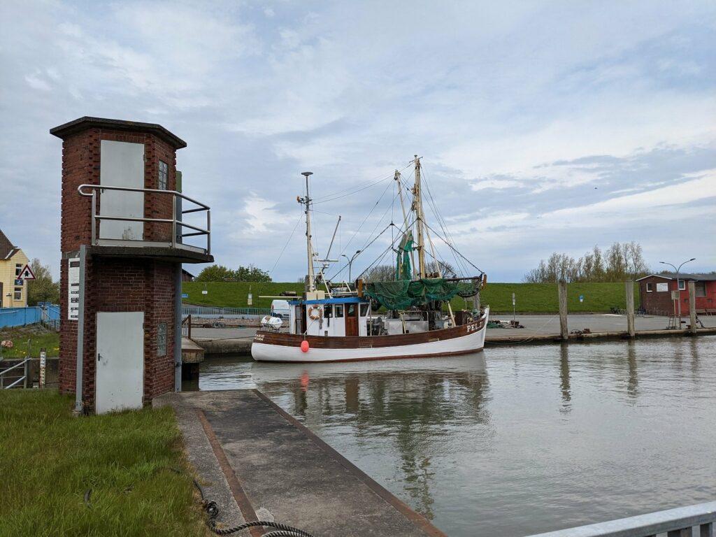 Der Hafen von Tammensiel auf Pellworm