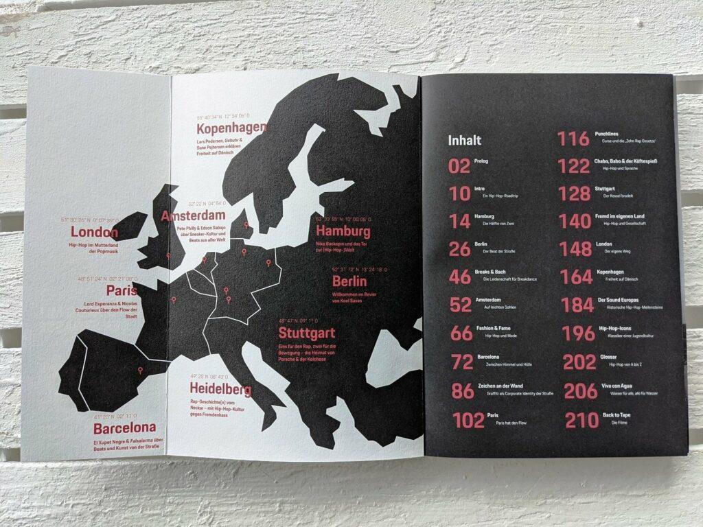 """Die Map zu """"Hip Hop Kultur - Ein Roadtrip durch Europa"""""""