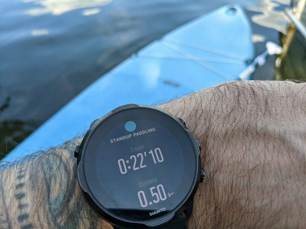 SUP Tracking mit der Sportwatch
