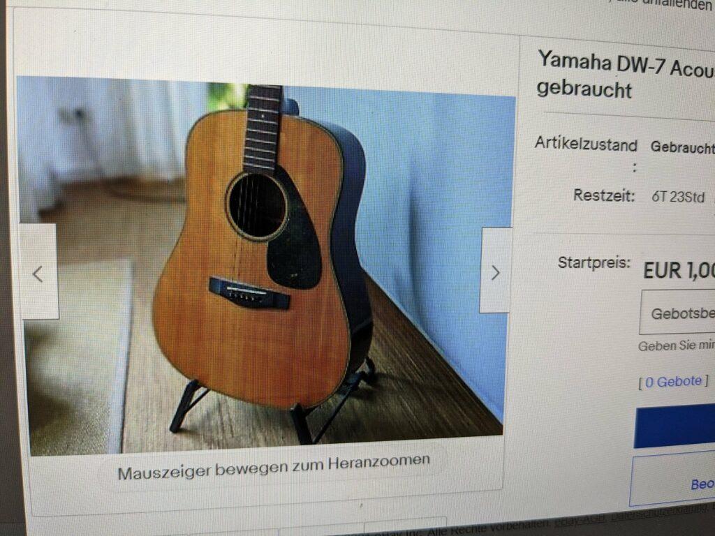 ebay anzeige gitarre